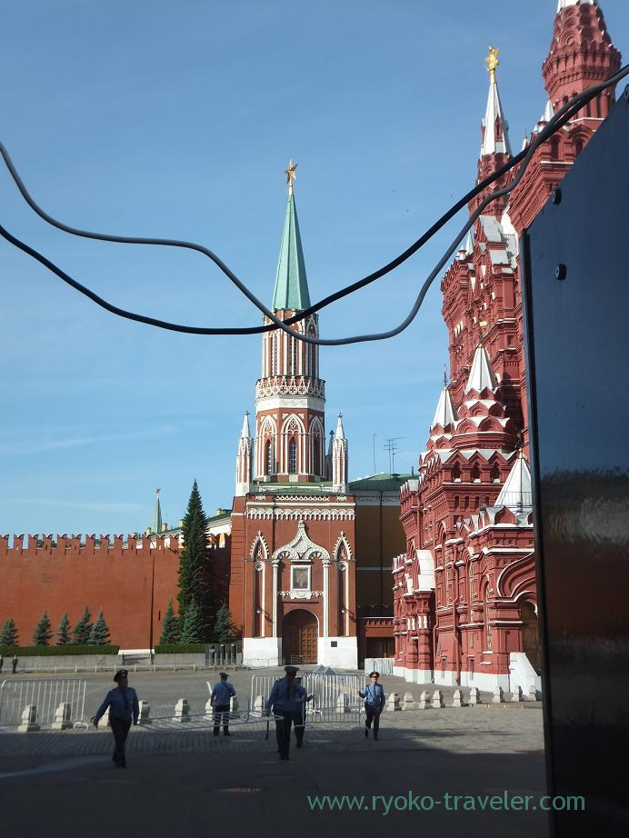 Red square was blockaded !