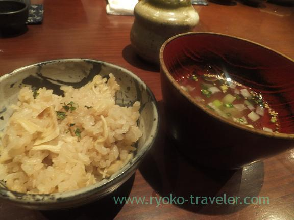 Bamboo shoot rice and soup, Yamadaya