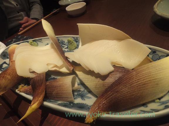 Bamboo shoot sashimi, Yamadaya
