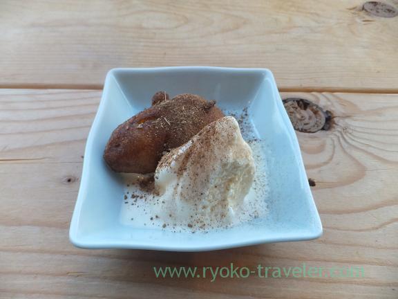 Deep fried banana and ice cream, Mahfil