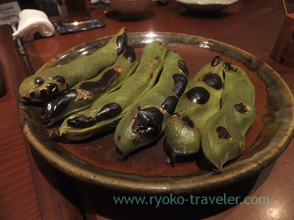 Grilled broad beans, Yamadaya