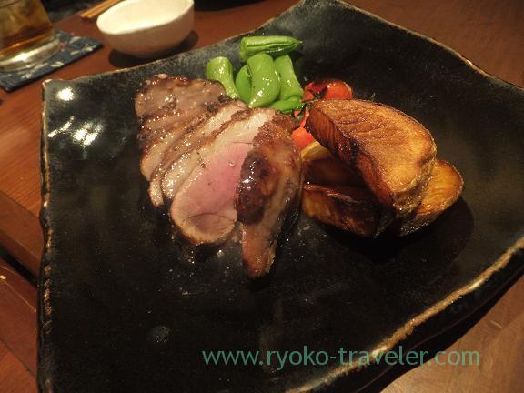 Grilled wild boar,  Yamadaya