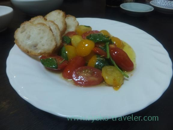 Fried fruit tomato and basil, Wakuitei