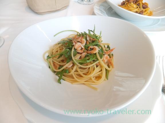 Spaghetti (Sakura shrimp), Faro