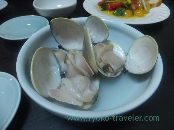 Steam common orient clam steeped in sake, Wakuitei