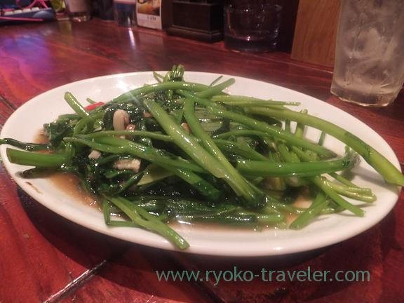 Stir Fried Water Spinach, Jane
