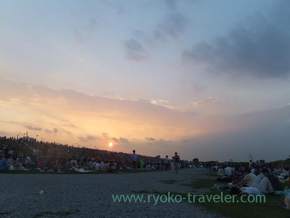 Before Edogawa ward fireworks display 2013