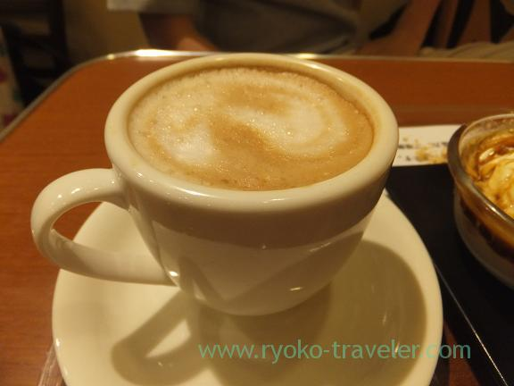 Cafe lait, Yonemoto Coffee Outer market branch (Tsukiji)