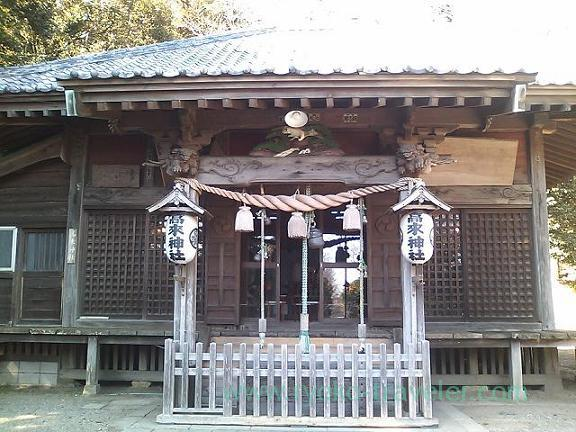 Worship hall, Takaku Jinja shrine (Oiso)