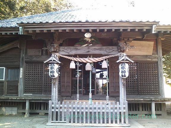 Worship hall, Takaku Jinja shrine (Oiso)