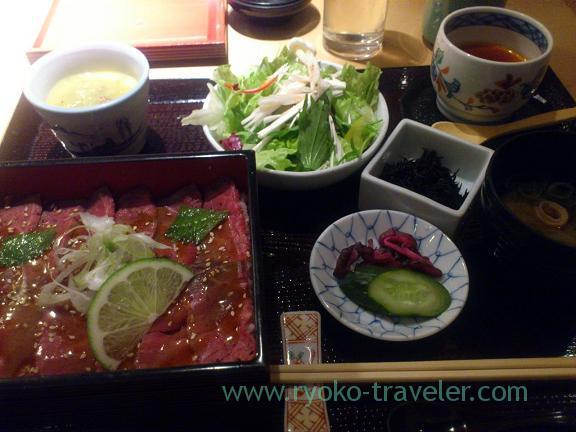 Roast beef box set, Edomae-Niku-kappo Miyashita (Yurakucho)