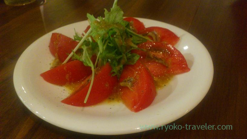 tomato and anchovy salads, Enzo (Asakusabashi)