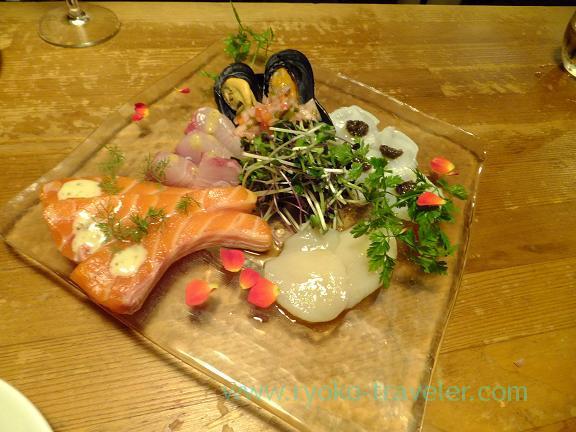 Todays fresh fish carpaccio, Hachijuro-Syoten (Funabashi)