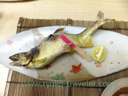 Grilled salted ayu with roe, Kazumiya (Yushima)