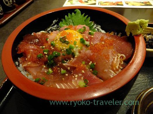 Tuna bowl, Chigasaki Umibune Harumi-Toriton branch (Kachidoki)