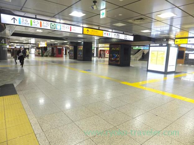 No one in Tokyo station at midnight