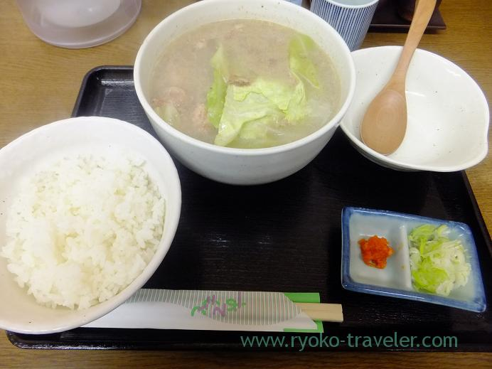 Whole view of my breakfast, Torito Tsukiji Market branch (Tsukiji Market)