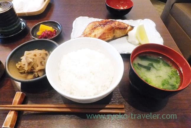Yuko-style grilled sea bass set, Taisyo (Kachidoki)