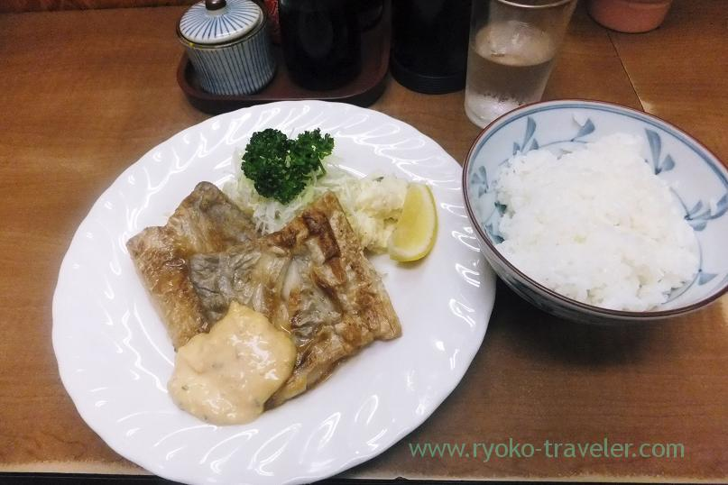 Fried hairtail with butter and rice, Odayasu (Tsukiji Market)