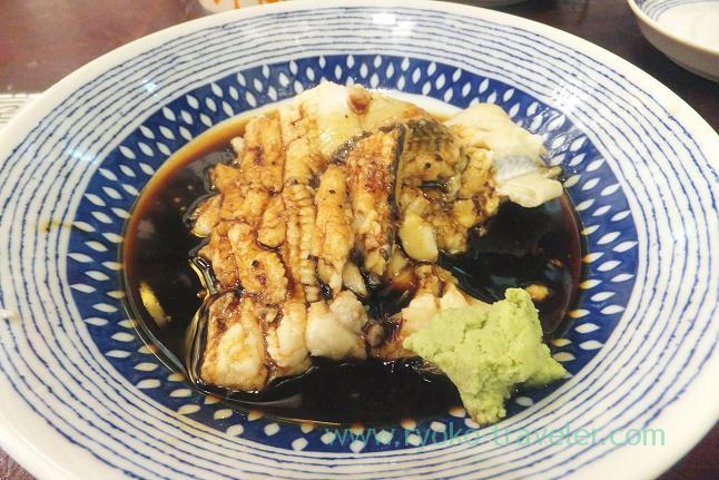 Boiled conger eel with soy sauce, Yonehana (Tsukiji Market)