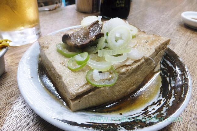 Boiled tofu with beefmeat, Masuyama (Funabashi)